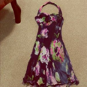 Morrell Maxi Floral Halter Dress